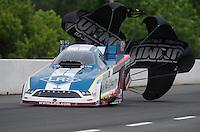 May 13, 2011; Commerce, GA, USA: NHRA funny car driver Tim Wilkerson during qualifying for the Southern Nationals at Atlanta Dragway. Mandatory Credit: Mark J. Rebilas-