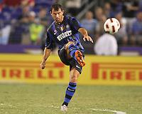 Goran Pandev #27 of Inter Milan during an international friendly match against Manchester City on July 31 2010 at M&T Bank Stadium in Baltimore, Maryland. Milan won 3-0.