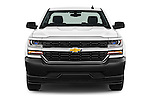 Car photography straight front view of a 2018 Chevrolet Silverado 1500 1WT Regular Cab Long Box 3 Door Pick-up Front View