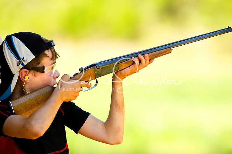 Mecklenburg County Boy Scouts hone their outdoor skills during a camping trip in Iredell County, North Carolina. The Scouts practiced skeet shooting.