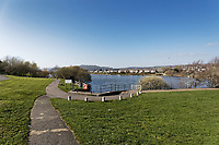 Water Park in Llanelli, Carmarthenshire, Wales, UK. Thursday 28 March 2019
