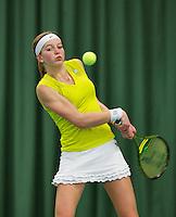 10-03-13, Rotterdam, Tennis, NOJK, Juniors, Claire Verwerda  Liza Lebedzeva