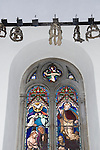 The Virgin Crowns, Garlands and or Chaplets hanging in the church of St Mary, the Virgin Abbotts Ann, Andover, Hampshire UK.
