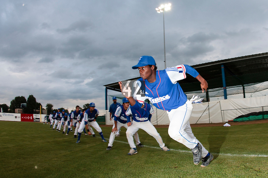 17 August 2010: Jean Antonio Samer of Team France warms up prior to the Czech Republic 4-3 win over France, at the 2010 European Championship, under 21, in Brno, Czech Republic.