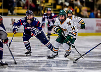 9 February 2018: University of Vermont Catamount Forward Ali O'Leary, a Sophomore from Reading, MA, in second period action against the University of Connecticut Huskies at Gutterson Fieldhouse in Burlington, Vermont. The Lady Cats defeated the Huskies 1-0 the first game of their weekend Hockey East series. Mandatory Credit: Ed Wolfstein Photo *** RAW (NEF) Image File Available ***