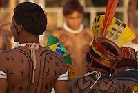 X JOGOS DOS POVOS INDÍGENAS Os Jogos dos Povos Indígenas (JPI) chegam a sua décima edição. Neste ano 2009, que acontecem entre os dias 31 de outubro e 07 de novembro. A data escolhida obedece ao calendário lunar indígena. com participação  cerca de 1300 indígenas, de aproximadamente 35 etnias, vindas de todas as regiões brasileiras. Paragominas , Pará, Brasil.Foto Paulo Santos04/11/2009