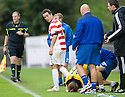 LIVY MANAGER GARY BOLLAN HAS AGO AT DOUGIE IMRIE AFTER HIS CHALLENGE ON ROSS DOCHERTY.09/10/2011  sct_jsp008_hamilton_v_livingston  .Copyright  Pic : James Stewart.James Stewart Photography 19 Carronlea Drive, Falkirk. FK2 8DN      Vat Reg No. 607 6932 25.Telephone      : +44 (0)1324 570291 .Mobile              : +44 (0)7721 416997.E-mail  :  jim@jspa.co.uk.If you require further information then contact Jim Stewart on any of the numbers above.........