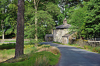 Tower Lodge, Marshaw, Over Wyresdale, Forest of Bowland, Lancashire, UK..This small house was intended as a gate lodge for Wyresdale Tower.The main project was never completed and Wyresdale Tower is now a ruin.