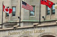 Ottawa (ON) CANADA - June 17 2012 - Canada's capital Ottawa - Chateau Laurier...