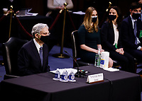Judge Merrick Garland is seated to testify before a Senate Judiciary Committee hearing on his nomination to be U.S. Attorney General on Capitol Hill in Washington, U.S., February 22, 2021. <br /> Credit: Carlos Barria / Pool via CNP /MediaPunch
