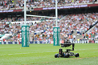 View of a pitch camera on a kart during the Old Mutual Wealth Cup match between England and Wales at Twickenham Stadium on Sunday 29th May 2016 (Photo: Rob Munro/Stewart Communications)