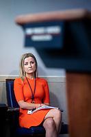 Sarah Matthews, White House deputy press secretary, listens during a news conference in the James S. Brady Press Briefing Room at the White House in Washington D.C., U.S. on Monday, June 22, 2020. <br /> Credit: Al Drago / Pool via CNP/AdMedia