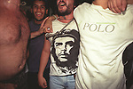 Che Guevara men wearing a T-shirt of Che a national hero Buenos Aires Argentina 2000s 2002