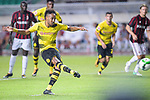 Borussia Dortmund Forward Pierre-Emerick Aubameyang attempts a kick during the International Champions Cup 2017 match between AC Milan vs Borussia Dortmund at University Town Sports Centre Stadium on July 18, 2017 in Guangzhou, China. Photo by Marcio Rodrigo Machado / Power Sport Images
