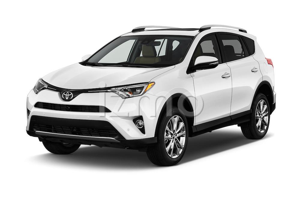 2018 Toyota RAV4 Limited 5 Door SUV Angular Front stock photos of front three quarter view