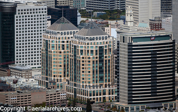 aerial photograph Federal Towers, Ask headquarters, Oakland, California