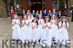 Lissivigeen NS pupils who received their First Holy Communon in the Church of the Ressurection Killarney on Saturday