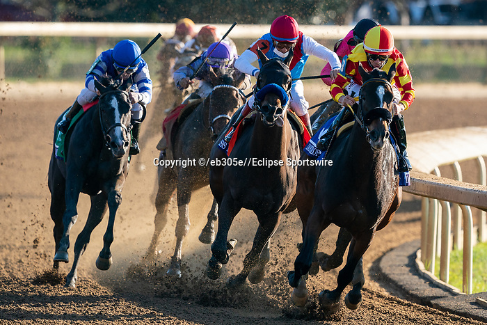uNovember 6, 2020: Horses race during the Juvenile Fillies on Breeders' Cup Championship Friday at Keeneland on November 6, 2020: in Lexington, Kentucky. /Dan Heary/Breeders' Cup/Eclipse Sportswire/CSM