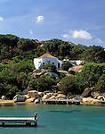 Italy, Sardinia, Porto Rafael, residential complex with beach near Palau