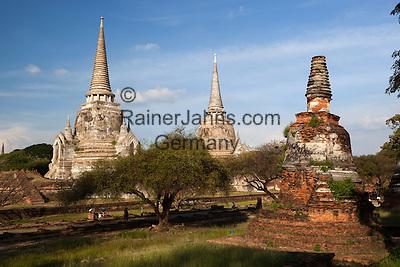 Thailand, Phra Nakhon Si Ayutthaya: Ruins of Wat Phra Sri Sanphet   Thailand, Phra Nakhon Si Ayutthaya: Ruinen des Wat Phra Sri Sanphet Tempels