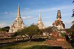Thailand, Phra Nakhon Si Ayutthaya: Ruins of Wat Phra Sri Sanphet | Thailand, Phra Nakhon Si Ayutthaya: Ruinen des Wat Phra Sri Sanphet Tempels