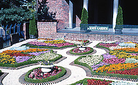 "Victoria: Centennial Square, ""Knot Garden"". The geometric patterns are called ""knots"", styled after Wolseys at Hampton Court."