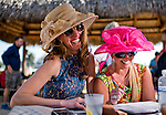 HALLANDALE BEACH, FL - JAN 28: Fans share a laugh as they try to pick a winning horse during the Pegasus World Cup Invitational Day at Gulfstream Park Race Course on January 28, 2017 in Hallandale Beach, Florida. (Photo by Scott Serio/Eclipse Sportswire/Getty Images)