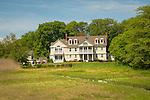 Coastal home in summer.