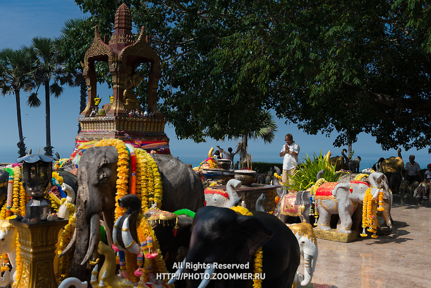 Shrine to elephants on Promthep cape, Phuket