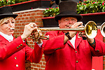 BALTIMORE, MD,  MAY 19: Buglers call to post at Pimlico Racecource on May 19, 2018 in Baltimore, Maryland. (Photo by Sue Kawczynski/Eclipse Sportswire/Getty Images)