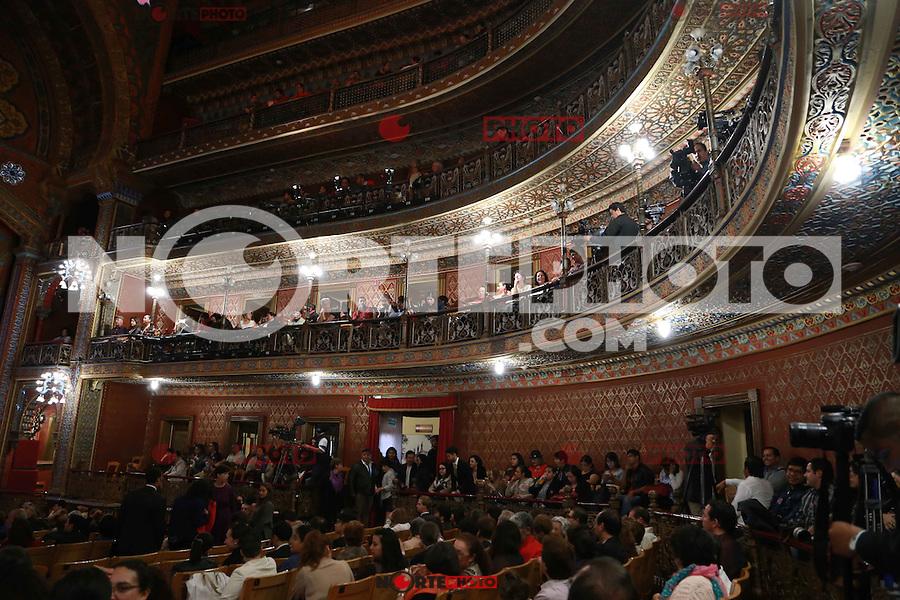 Presentación  de el programa del Festival Internacional Cervantino XLIII  y rueda de prensa, realizada en  el teatro Juarez de Guanajuato.Este año cuenta con la participación de países como Chile , Peru  y Colombia
