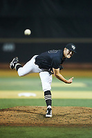 Wake Forest Demon Deacons relief pitcher Cole McNamee (40) delivers a pitch to the plate against the Virginia Cavaliers at David F. Couch Ballpark on May 18, 2018 in  Winston-Salem, North Carolina.  The Cavaliers defeated the Demon Deacons 15-3.  (Brian Westerholt/Four Seam Images)