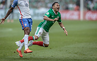 Mexico City, Mexico - Sunday June 11, 2017: Marco Fabián during a 2018 FIFA World Cup Qualifying Final Round match with both men's national teams of the United States (USA) and Mexico (MEX) playing to a 1-1 draw at Azteca Stadium.