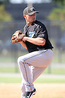 Toronto Blue Jays minor league pitcher Sean Shoffit during a game vs. the Detroit Tigers in an Instructional League game at Tiger Town in Lakeland, Florida;  October 13, 2010.  Photo By Mike Janes/Four Seam Images