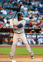 May 7, 2010; Phoenix, AZ, USA; Milwaukee Brewers second baseman Rickie Weeks against the Arizona Diamondbacks at Chase Field. The Brewers defeated the Diamondbacks 3-2. Mandatory Credit: Mark J. Rebilas-