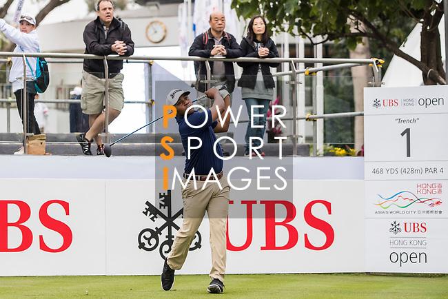 Harold Varner III of the United States tees off during the day four of UBS Hong Kong Open 2017 at the Hong Kong Golf Club on 26 November 2017, in Hong Kong, Hong Kong. Photo by Yu Chun Christopher Wong / Power Sport Images
