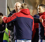 Mark Warburton and Martyn Waghorn at full-time