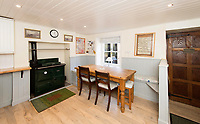 BNPS.co.uk (01202) 558833. <br /> Pic: TimHardy/KnightFrank/BNPS<br /> <br /> Pictured: Kitchen. <br /> <br /> A traditional country cottage in a hidden valley surrounded by its own woodland is on the market for offers over £700,000.<br /> <br /> Beck Cottage sits in a stunning position with a stream that has fishing rights and an idyllic private natural pool with a waterfall.<br /> <br /> Estate agent Knight Frank say it is a rare opportunity for someone to get their own bit of unspoilt England as the cottage is on the market for the first time in about 70 years.<br /> <br /> The five-bedroom property is close to the seaside town of Whitby and the North York Moors National Park.