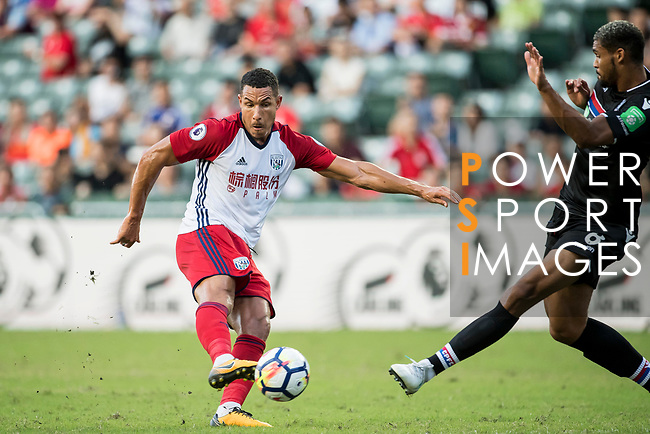 West Bromwich Albion midfielder Jake Livermore battles for the ball with Crystal Palace midfielder Ruben Loftus-Cheek (R)  during the Premier League Asia Trophy match between West Bromwich Albion and Crystal Palace at Hong Kong Stadium on 22 July 2017, in Hong Kong, China. Photo by Weixiang Lim / Power Sport Images