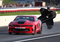 Aug 31, 2019; Clermont, IN, USA; NHRA factory stock driver Doug Hamp during qualifying for the US Nationals at Lucas Oil Raceway. Mandatory Credit: Mark J. Rebilas-USA TODAY Sports