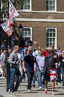 27.05.2013 - EDL Demo and UAF Counter Demo Outside 10 Downing Street