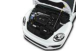 Car Stock 2017 Volkswagen Beetle S 3 Door Hatchback Engine  high angle detail view