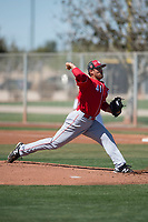 Cincinnati Reds relief pitcher Patrick Riehl (41) during a Minor League Spring Training game against the Chicago White Sox at the Cincinnati Reds Training Complex on March 28, 2018 in Goodyear, Arizona. (Zachary Lucy/Four Seam Images)