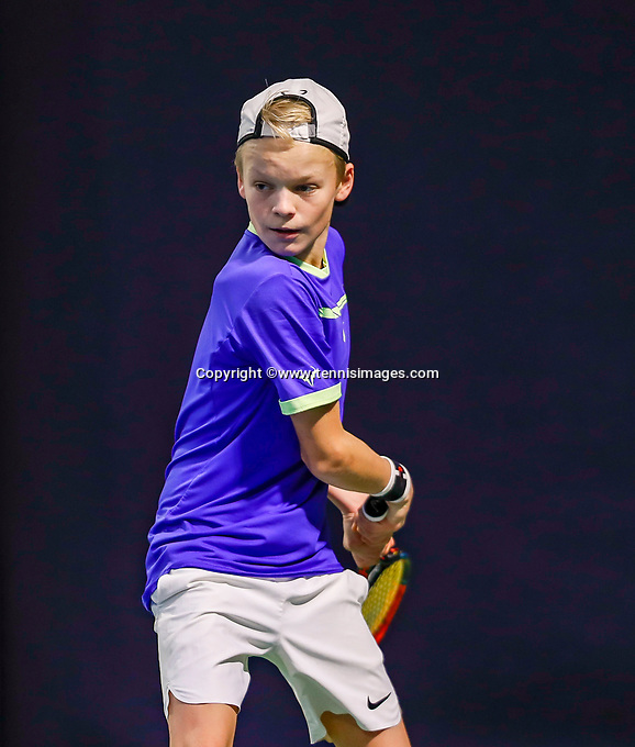 Hilversum, Netherlands, December 3, 2017, Winter Youth Circuit Masters, 12,14,and 16 years, Abel Forger (NED)<br /> Photo: Tennisimages/Henk Koster