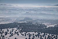 15/01/2021. Toledo. España<br /> <br /> 'Filomena' también ha golpeado con dureza a las zonas más rurales, cubriendo de nieve y hielo campos de cultivo, invernaderos y granjas de animales. El temporal, al igual que la pandemia, ha mostrado la urgencia de relocalizar la producción agrícola, fomentar la agricultura urbana y periurbana y crear centros logísticos que den soporte a la pequeña producción alimentaria y a las comunidades rurales. La alimentación es un sector estratégico para la supervivencia, por lo que es fundamental un cambio de modelo y una apuesta decidida por la agroecología.<br /> <br /> ©Pedro Armestre/Greenpeace