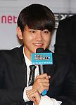 Baek-Hyun(EXO), Aug 11, 2014 : Baekhyun of South Korean-Chinese K-Pop idol boy band EXO, attends a presentation for their new show on Mnet, 'EXO 90:2014', at CJ E&M Center in Seoul, South Korea.  (Photo by Lee Jae-Won/AFLO) (SOUTH KOREA)