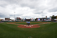 General view of the field before a Rochester Red Wings game against the Pawtucket Red Sox on July 1, 2015 at Frontier Field in Rochester, New York.  Rochester defeated Pawtucket 8-4.  (Mike Janes/Four Seam Images)