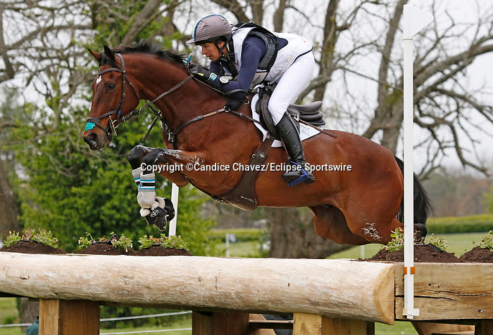 April 24, 2021: #26 Palm Crescent and rider Meghan O'Donoghue in the Cross Country test at the Land Rover Three Day Event at the Kentucky Horse Park in Lexington, KY on April 24, 2021.  Candice Chavez/ESW/CSM