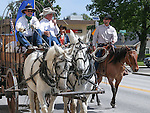A group of rancher ride to the Capitol in Carson City, Nev., on Friday, May 30, 2014. Travis Gerber, right, and his father Grant, center, rode from Carlin to Carson City to deliver a petition to the governor calling attention to the ongoing fight between ranchers and the BLM over grazing on public lands. <br /> Photo by Cathleen Allison