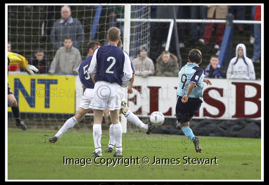 01/02/2003                   Copyright Pic : James Stewart.File Name : stewart-falkirk v st john 10.PAUL HARTLEY (9) SCORES ST JOHNSTONE'S GOAL......James Stewart Photo Agency, 19 Carronlea Drive, Falkirk. FK2 8DN      Vat Reg No. 607 6932 25.Office     : +44 (0)1324 570906     .Mobile  : +44 (0)7721 416997.Fax         :  +44 (0)1324 570906.E-mail  :  jim@jspa.co.uk.If you require further information then contact Jim Stewart on any of the numbers above.........